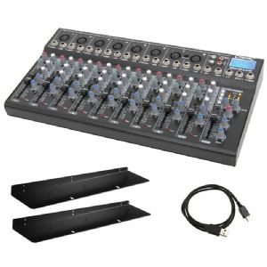 Citronic CM10-LIVE 10 Channel Live + Studio Mixing Desk Mixer + USB SD + Effects